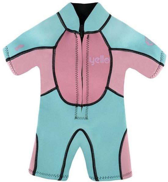 Yello Uv-werende Wetsuit Seahorse 2 Mm Meisjes Blauw/roze 4 Jaar