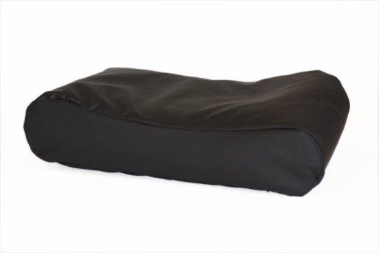 Comfort Kussen Hondenkussen Deluxe Leatherlook 100 x 75 cm - Zwart