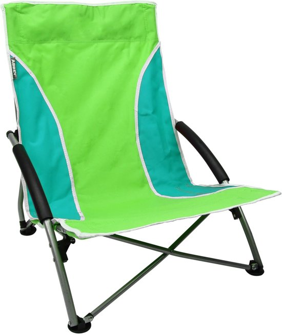 Abbey Camp Strandstoel - Laag - groen;wit;blauw