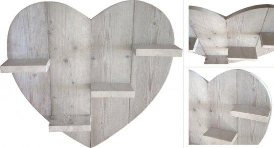 Hart van steigerhout 80x80cm for Houten tuinkast intratuin