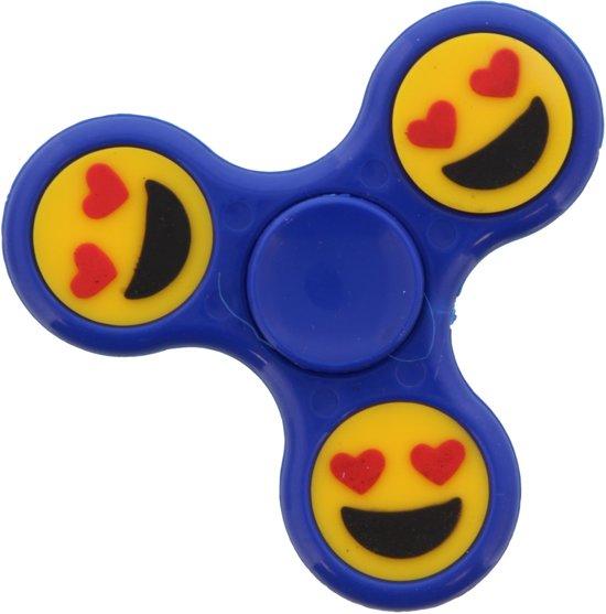 Afbeelding van het spel Blauwe Fidget spinner met Emoji.