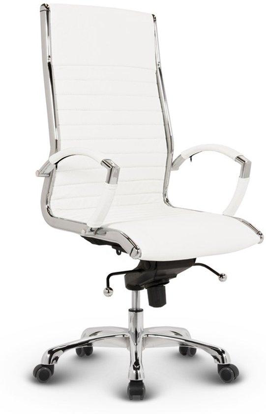 Bureaustoel Wit Goedkoop.Bol Com Bureaustoel Lincoln Relax Design Hoge Rugleuning 100