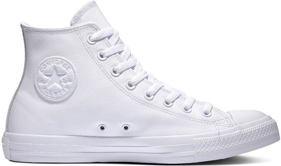 Converse All Stars Leather Hoog 1T406 Wit-45