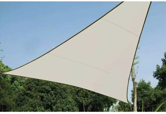 SCHADUWDOEK - ZONNEZEIL - DRIEHOEK 3.6 x 3.6 x 3.6m, kleur: crème