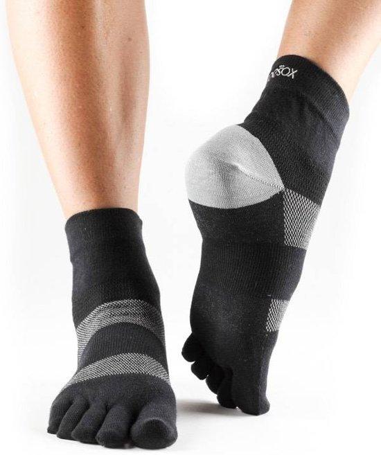 Hardloop teen sokken Minnie zwart/grijs - maat S