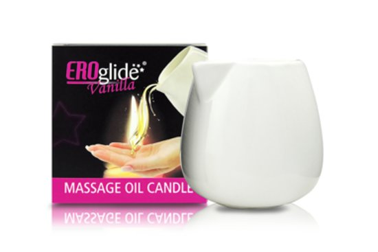 EROglide Massage kaars - Vanilla