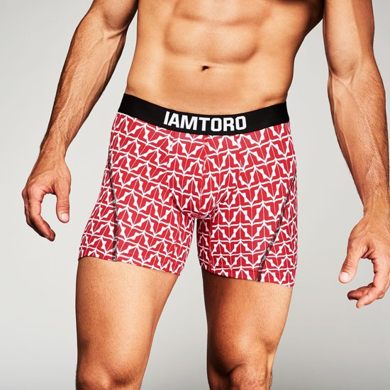 IAMTORO Heren Boxershort-  Icon Rood - Maat S