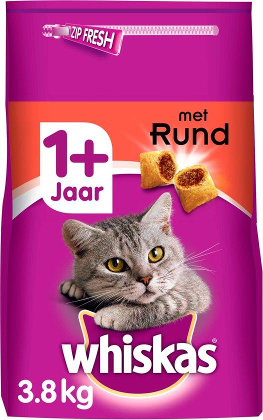 Whiskas Brokjes Adult Rund - Kattenvoer - 3.8 kg
