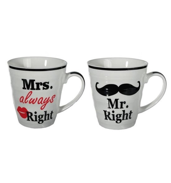 Mr. Right en Mrs. Always Right Bekers Valentinaa