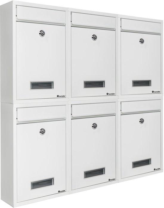 Brievenbus / brievenbussen systeem staal wit 401510