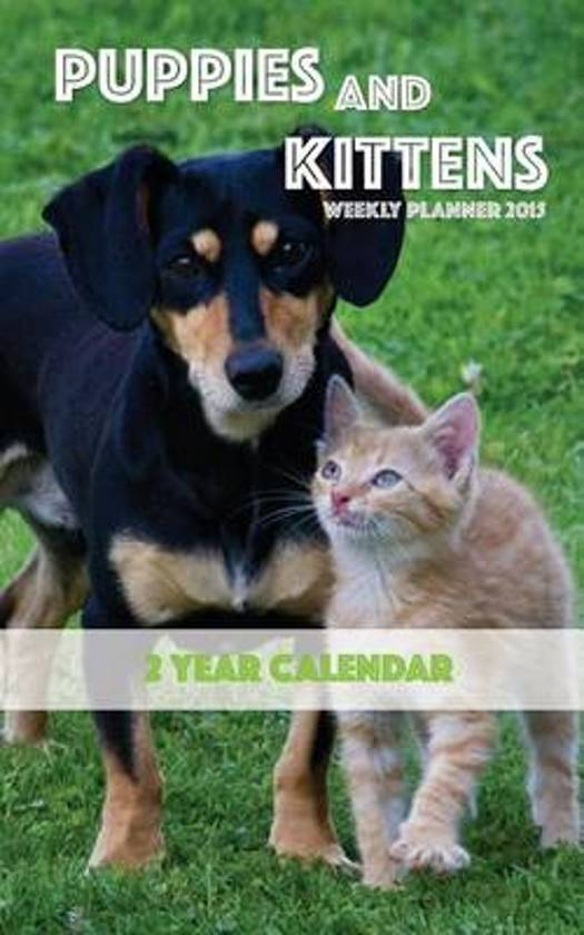 Puppies and Kittens Weekly Planner 2015