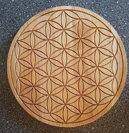 Levensbloem (Flower of Life) gemaakt van Eiken meubelplaat