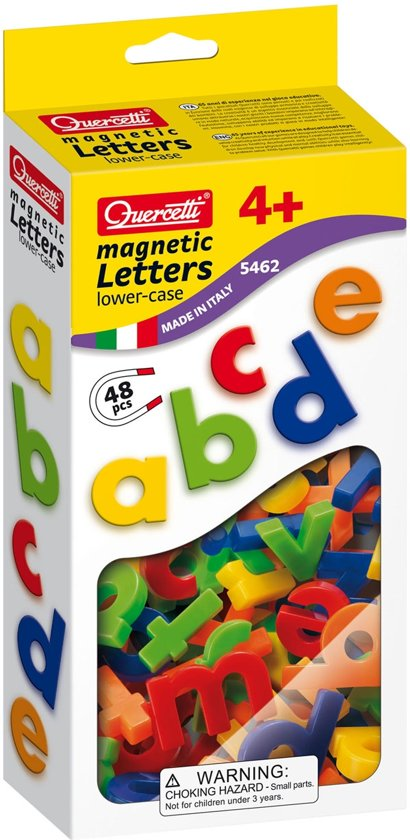 Afbeelding van het spel Quercetti kleine letters ABC magneten, 48st.