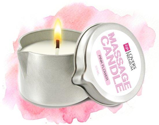 LoversPremium Pink Flower - Massagekaars