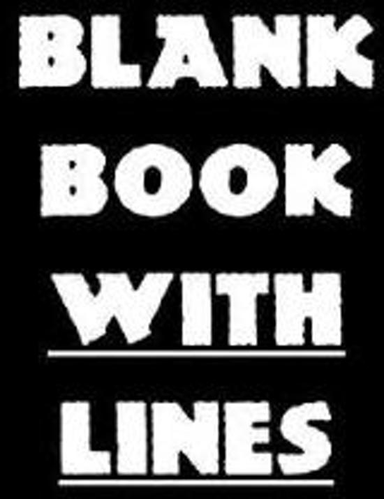 Blank Book with Lines