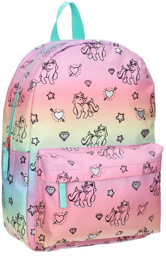b0305181443 Milky Kiss Rainbows & Unicorns Kinderrugzak 39 cm Unisex - Multicolor -  Regenboog en eenhoorn print