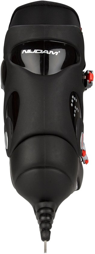 Nijdam 0089 IJshockeyschaats - Hardboot - Zwart/Rood - Maat 42