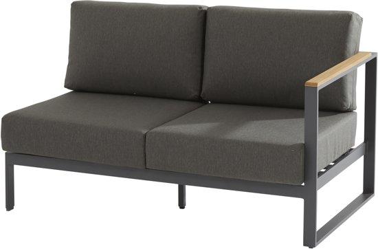 Loungebank Montigo 4-zits loungebank modulair - teak armleuningen