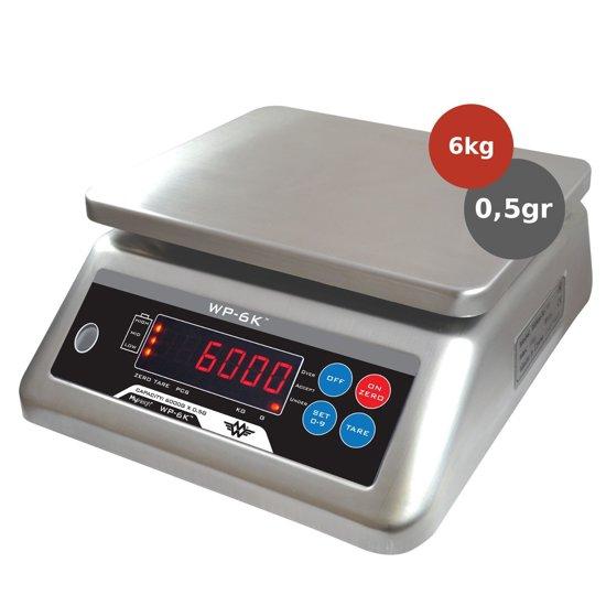 My Weigh Waterproof RVS weegschaal 6kg x 05gr