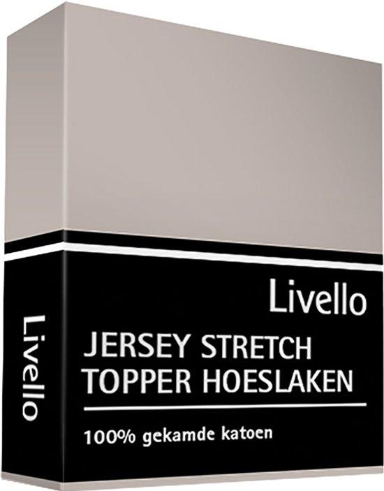 Livello Hoeslaken Jersey topper Stone 180x200/210