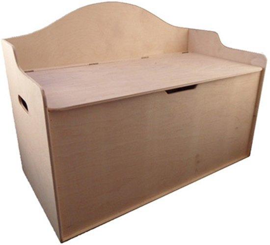 Playwood - Houten speelgoedbank - speelgoedkist - opbergbank XL