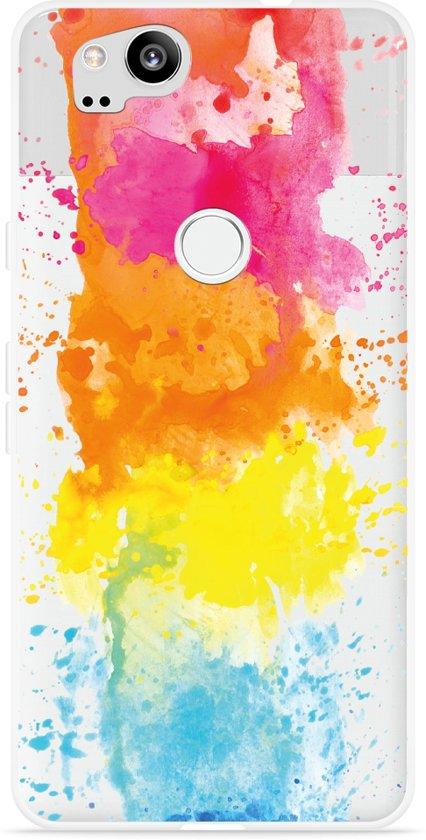 Pixel 2 Hoesje Color Splatters