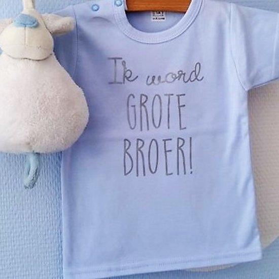 Bedwelming bol.com | Zwangerschap aankondiging Shirt Ik word grote broer @LE86