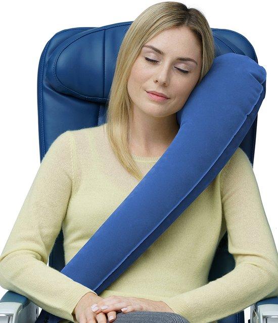 ULTIEME reiskussen / nekkussen - Comfort, verstelbaar voor Vliegtuig, Auto, Bussen, Treinen, Kantoordutjes, Camping, Rolstoelen, Kind en baby - Opblaasbaar