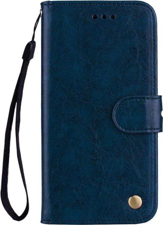 6d1d8d28cee Mobigear Olie Wax Texture Lederen Wallet Book Case Blauw Huawei Mate 20 Pro