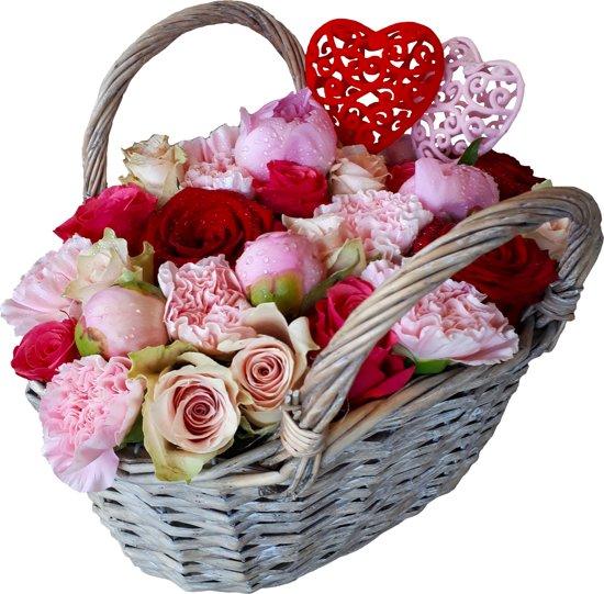 Verjaardag Bloemen Afbeelding.Bloemenhandtasje Met Echte Bloemen Verjaardag Moederdag Cadeau