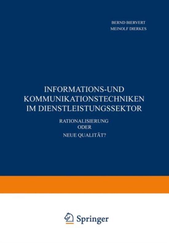 Informations- und Kommunikationstechniken im Dienstleistungssektor