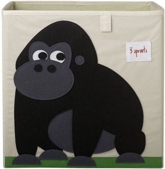 3 sprouts speelgoed opbergbox gorilla. Black Bedroom Furniture Sets. Home Design Ideas