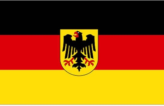 Vlag van Duitsland met adelaar 90 x 150