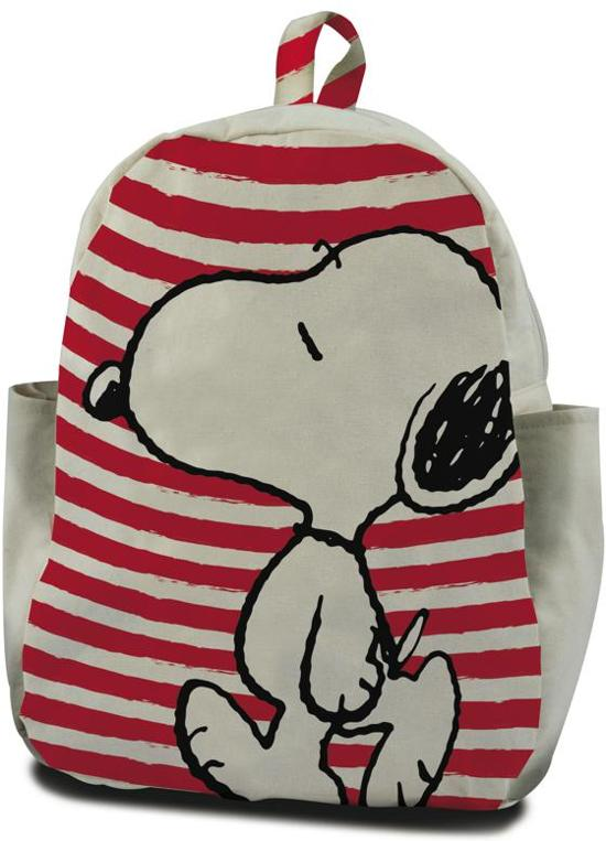 dbc5d7810a1 bol.com | Snoopy Rugzak - 30 cm hoog - wit met rood gestreept