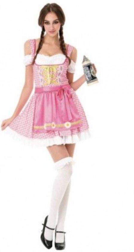 95870936e435b4 Oktoberfest Jurk Dames | Tiroler jurk Dames | Dirndl Sweetie Roze | Maat S