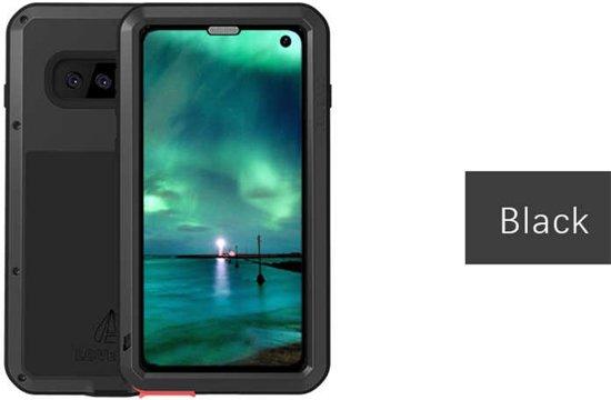 Metalen Fullbody Case voor Samsung Galaxy S10 Plus (S10+), Love Mei, metalen extreme protection case, zwart