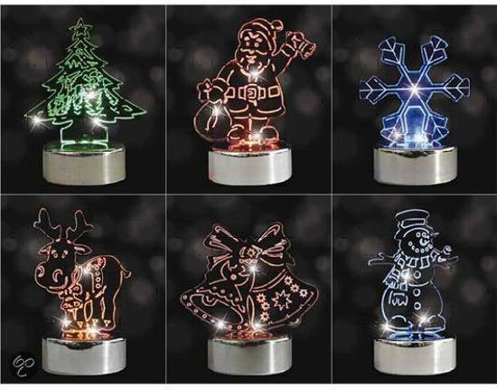 bol.com   Luca Lighting - Kerstfiguurtjes van plexiglas met LED ...