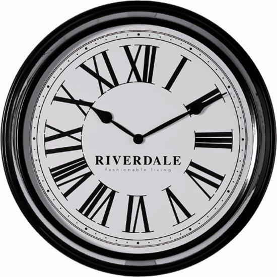 Riverdale Time - Klok - Rond - Metaal - Ø52 cm - Zwart