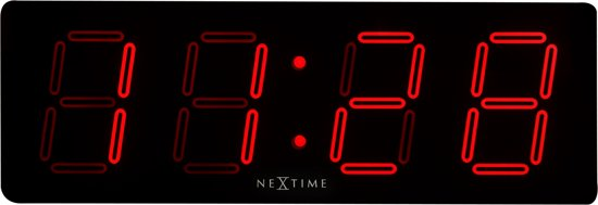 NeXtime Big D Digitale Wandklok 51,5 x 51,5 cm