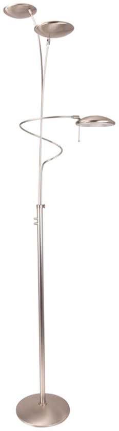 Steinhauer Diamond - Vloerlamp - 3 lichts - LED - Staal