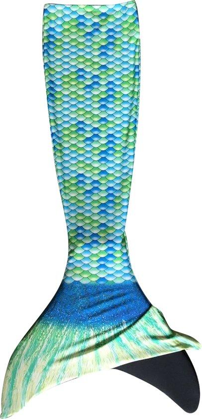 e8d063a4eebe86 bol.com | Zeemeerminstaart met monovin Groen/Blauw maat 152-170 (12)