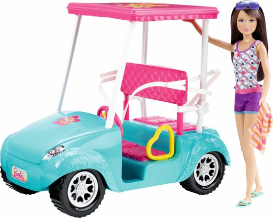 Barbie Zusjes Golf Cart