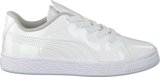Puma Meisjes Sneakers Basket Crush Patent Ac - Wit - Maat 25