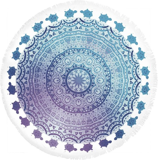 HIP roundie Julia - strandlaken - 160x160 cm  - 100% cotton/velours - multi