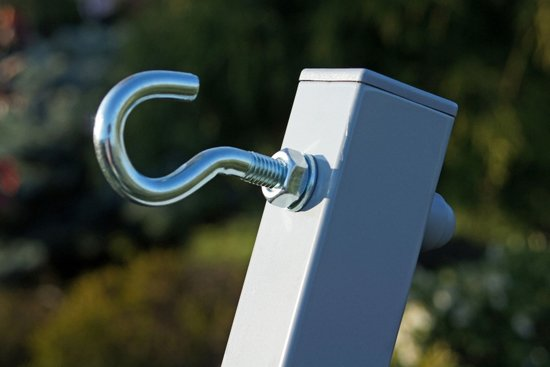 Potenza Titanium- Verzinkte massieve Tweepersoons hangmatstandaard /2- persoons hangmat standaard inclusief hangmatbevestingsset (draagkracht:350 kg)