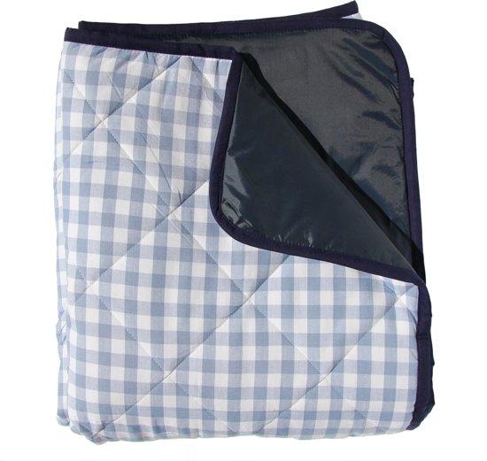 gewatteerd picknickkleed lichtblauwe ruit. Black Bedroom Furniture Sets. Home Design Ideas