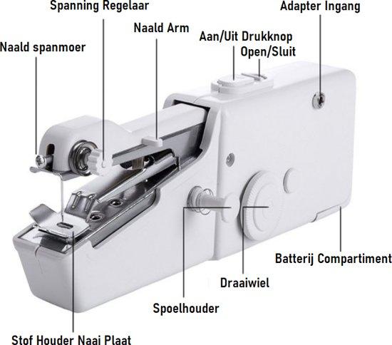 Handy Stitch - Handnaaimachine met 48 Delige Starterskit - Mini handnaaimachine - Compact - Draadloos - Draagbaar - Naaimachine Met 48 Delige starter pack