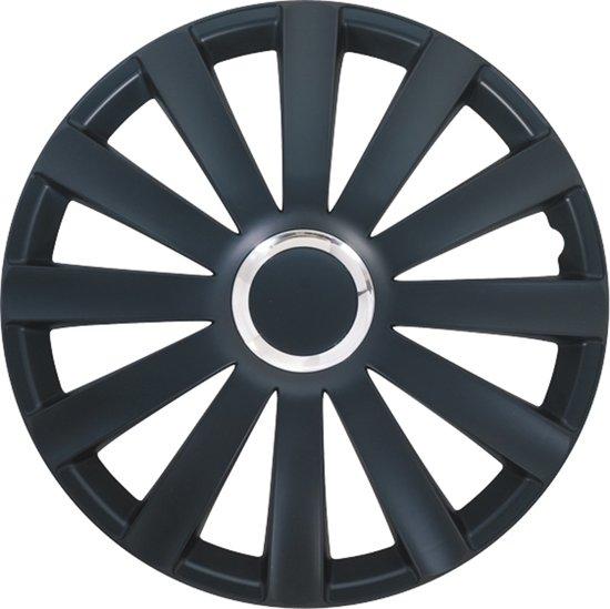 Autostyle Wieldoppen 17 Inch Spyder Zwart Chroom Ring