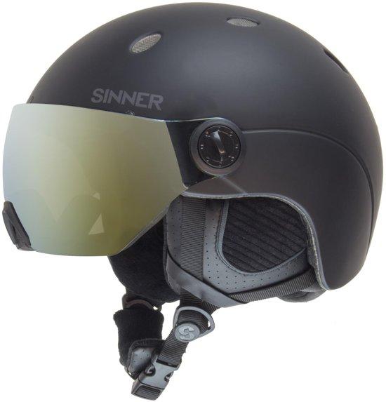 Sinner Titan Visor Unisex Skihelm - Matte Black - S/56 cm