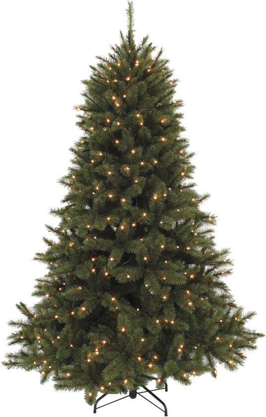 Triumph tree kunstkerstboom led forest frosted maat in cm: 230 x 157 donkergroen 400 lampjes